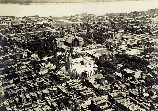 Arial of St. Anthony of Padua Church in 1920